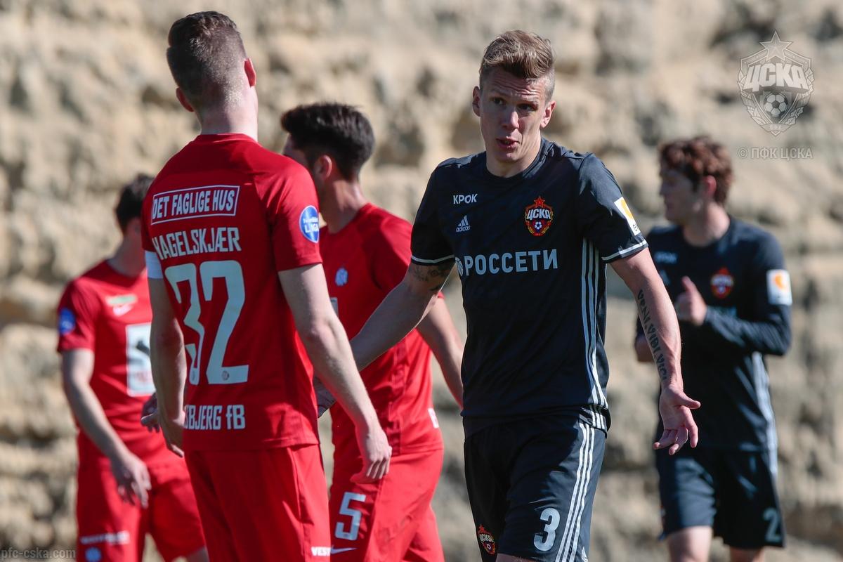 ПФК ЦСКА завершили испанский сбор матчем против «Эсбьерга»
