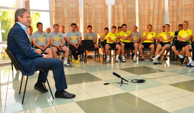 Президент «Кубани» встретился с командой