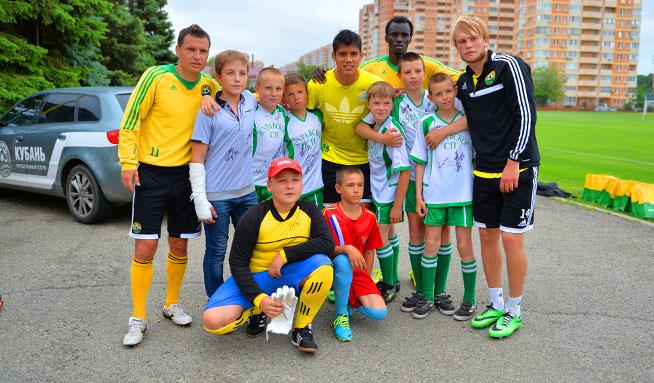 Юные футболисты посетили тренировку «Кубани»
