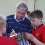 Панфилов, Таранов и Павленко встретились со школьниками