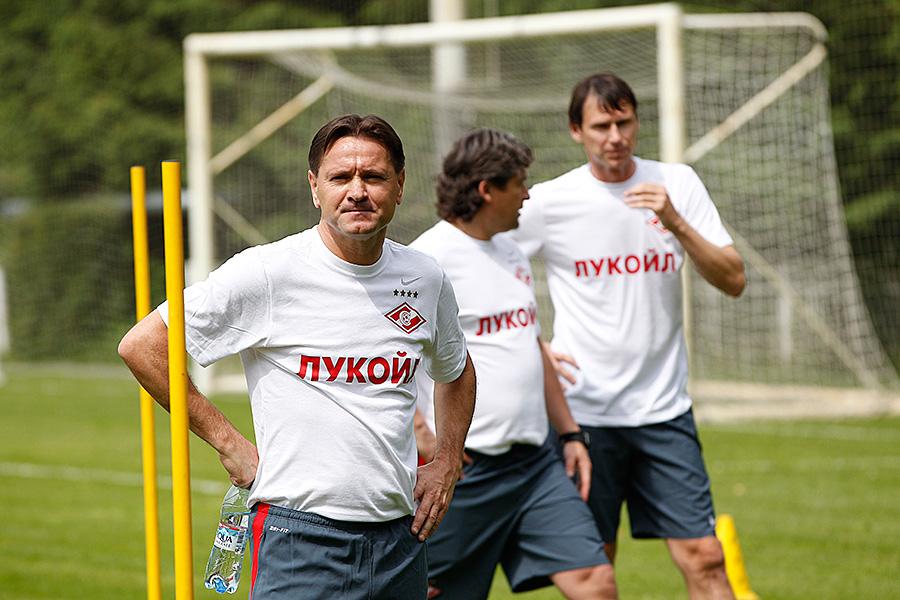 Первая тренировка «Спартака» в новом сезоне под руководством Дмитрия Аленичева