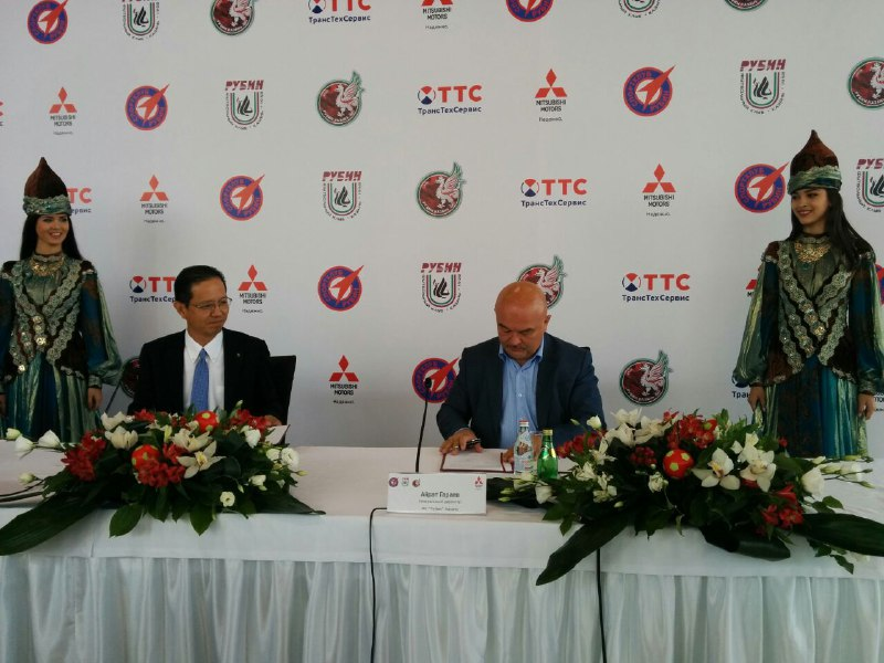 ФК «Рубин» и Mitsubishi подписали соглашение о стратегическом партнерстве