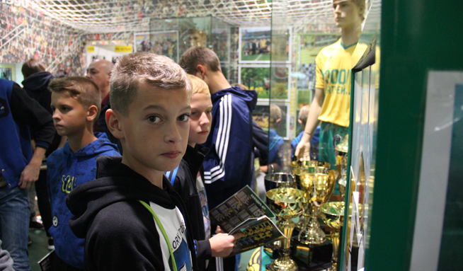 Ученики «Академия футбола» посетили музей ФК «Кубань»