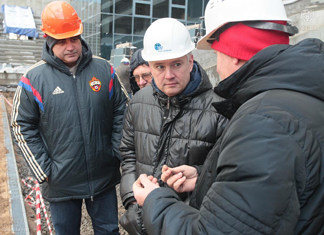 Инспекционная комиссия посетила базу и строящийся стадион ПФК ЦСКА