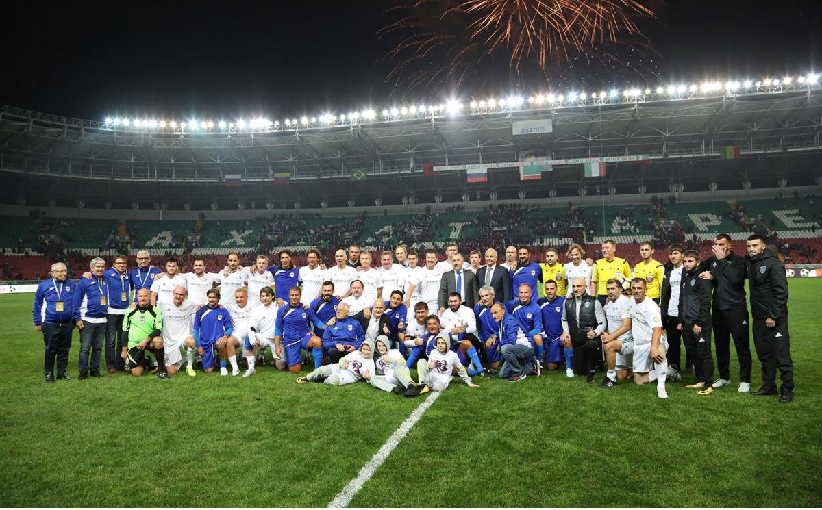 В Грозном прошел матч между командой «Лидер-65» и сборной ветеранов Италии