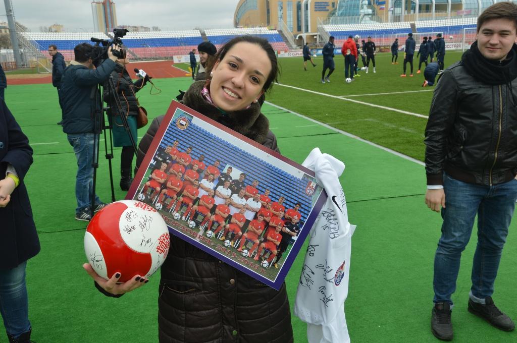 ФК «Мордовия» встретился с активистами Волонтерского центра