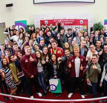 Студенты казанских вузов пообщались с игроками «Рубина»