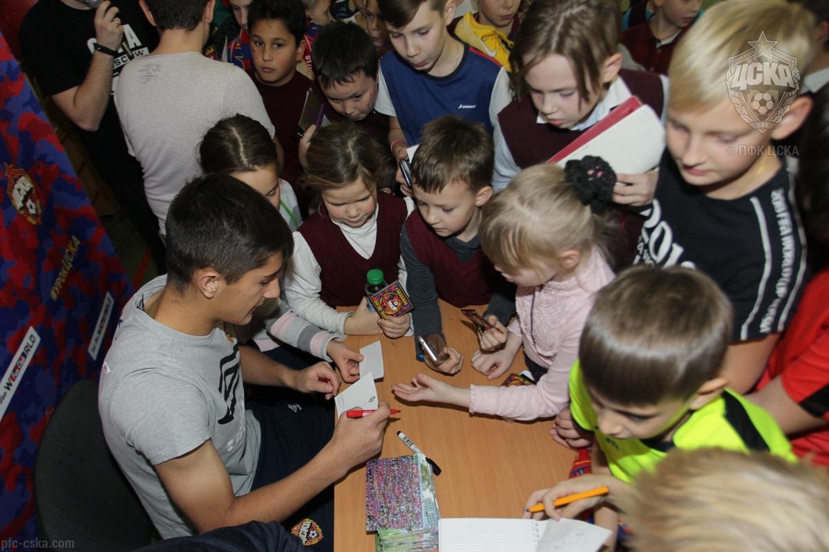 Урок ЦСКА прошел в школе №45
