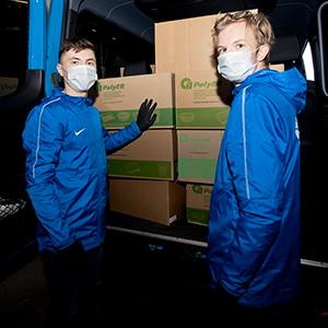 Зенитовцы организовали ежедневную доставку обедов для медперсонала Боткинской больницы
