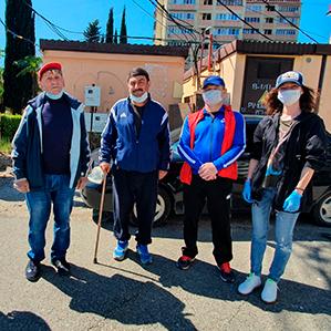 «Сочи» провел второй этап акции по поддержке ветеранов городского футбола
