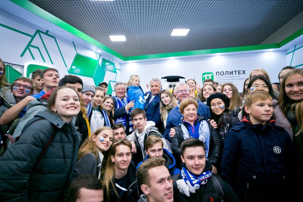 На «Газпром Арене» открылась интерактивная площадка Политеха