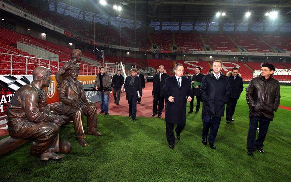 Игорь Шувалов и Виталий Мутко посетили «Открытие Арену»