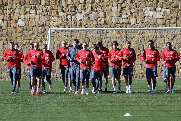 Тренировка «Спартака» перед контрольным матчем