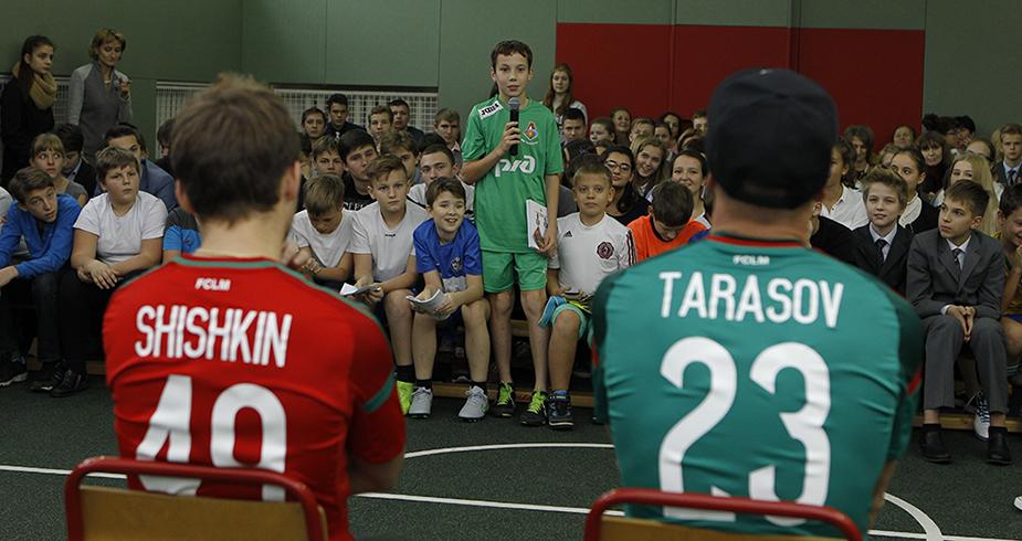 Шишкин и Тарасов провели мастер-класс для учеников московской гимназии