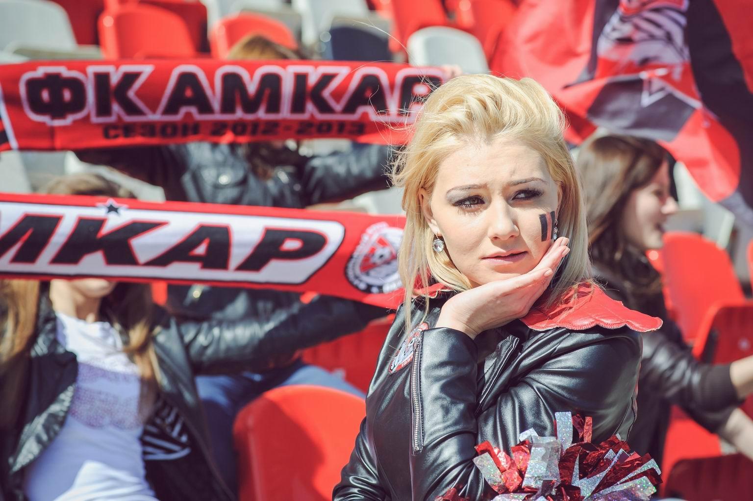 Ксения Рыбьякова представляет «Амкар» на конкурсе «Мисс Премьер-Лига»