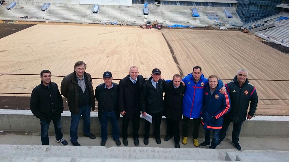 Делегация УЕФА посетила строящийся стадион ПФК ЦСКА