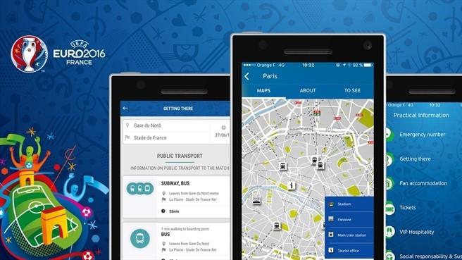 УЕФА выпустил приложение-путеводитель для болельщиков по ЕВРО-2016