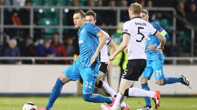 «Зенит» одержал третью победу подряд в Лиге Европы