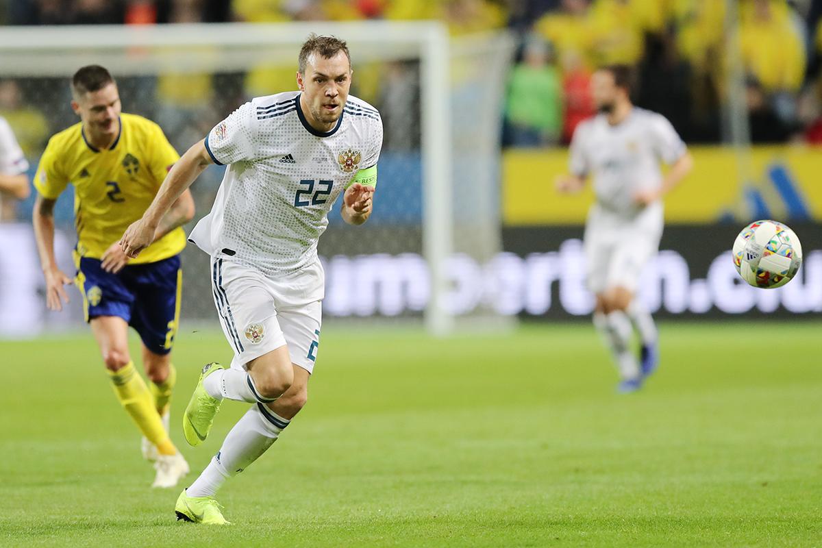 Россия уступила Швеции в матче Лиги наций
