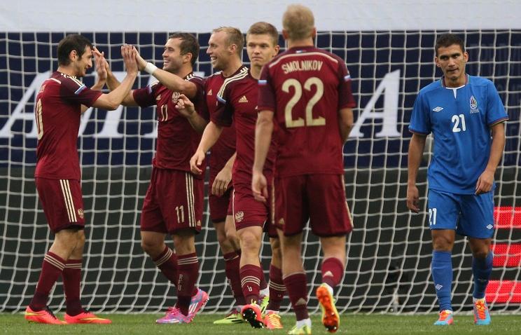 Сборная России разгромила Азербайджан