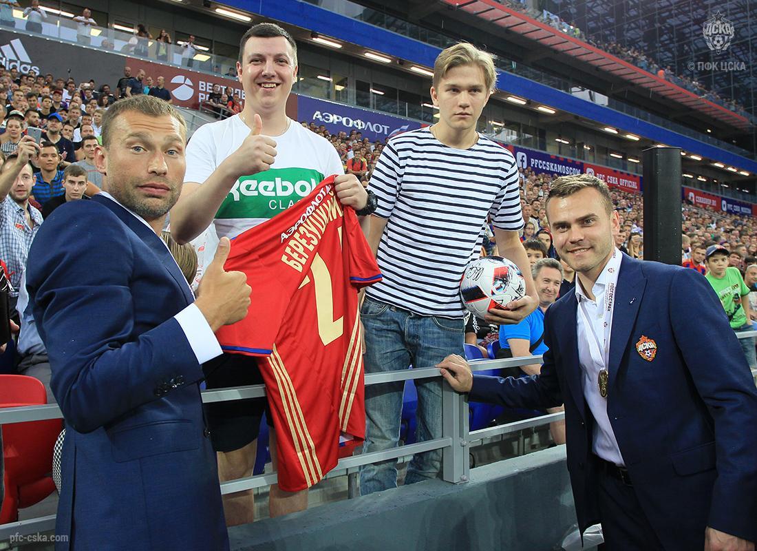 Встреча с болельщиками на Арене ЦСКА прошла успешно!