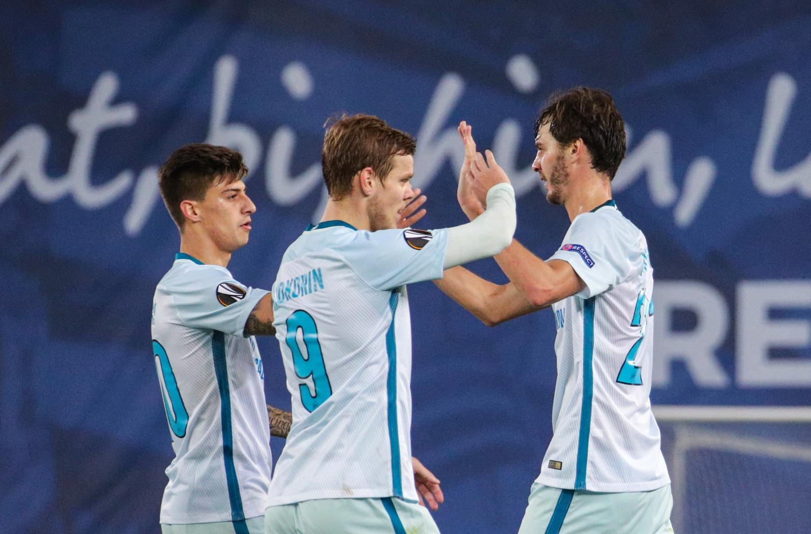 «Зенит» вышел в плей-офф Лиги Европы с первого места