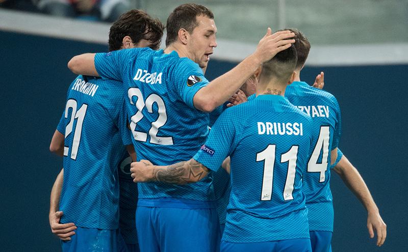 «Зенит» и «Краснодар» обыграли своих соперников в Лиге Европы