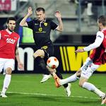 «Анжи» уступил в первом матче 1/8 финала Лиги Европы