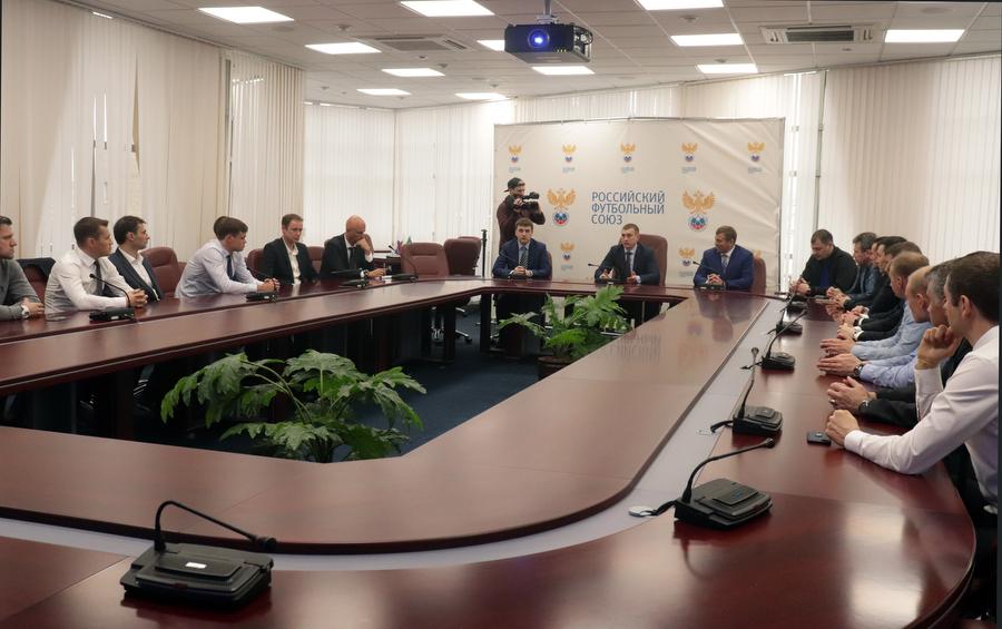 Александр Егоров провел совещание с судьями РФПЛ