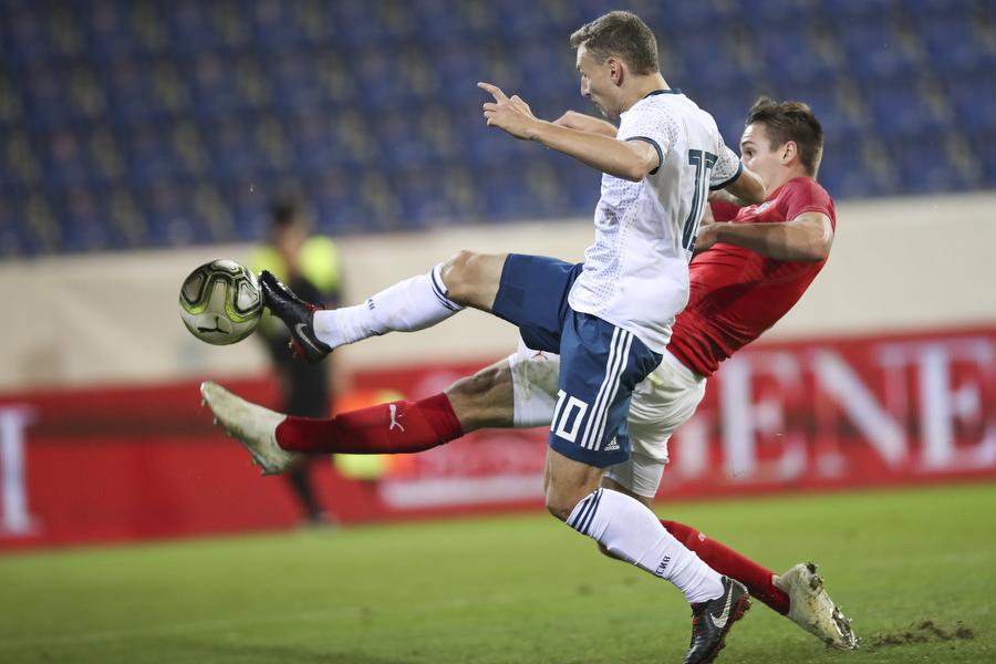 Дубля Чалова не хватило для победы молодежной сборной России