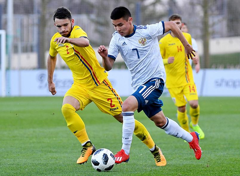 Сборная России U-19 сыграла вничью с Румынией