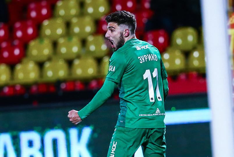 Гол Давиташвили принёс победу «Рубину»