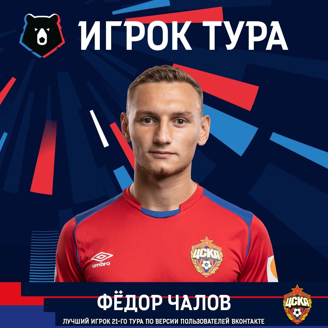 Фёдор Чалов стал лучшим в 21-м туре