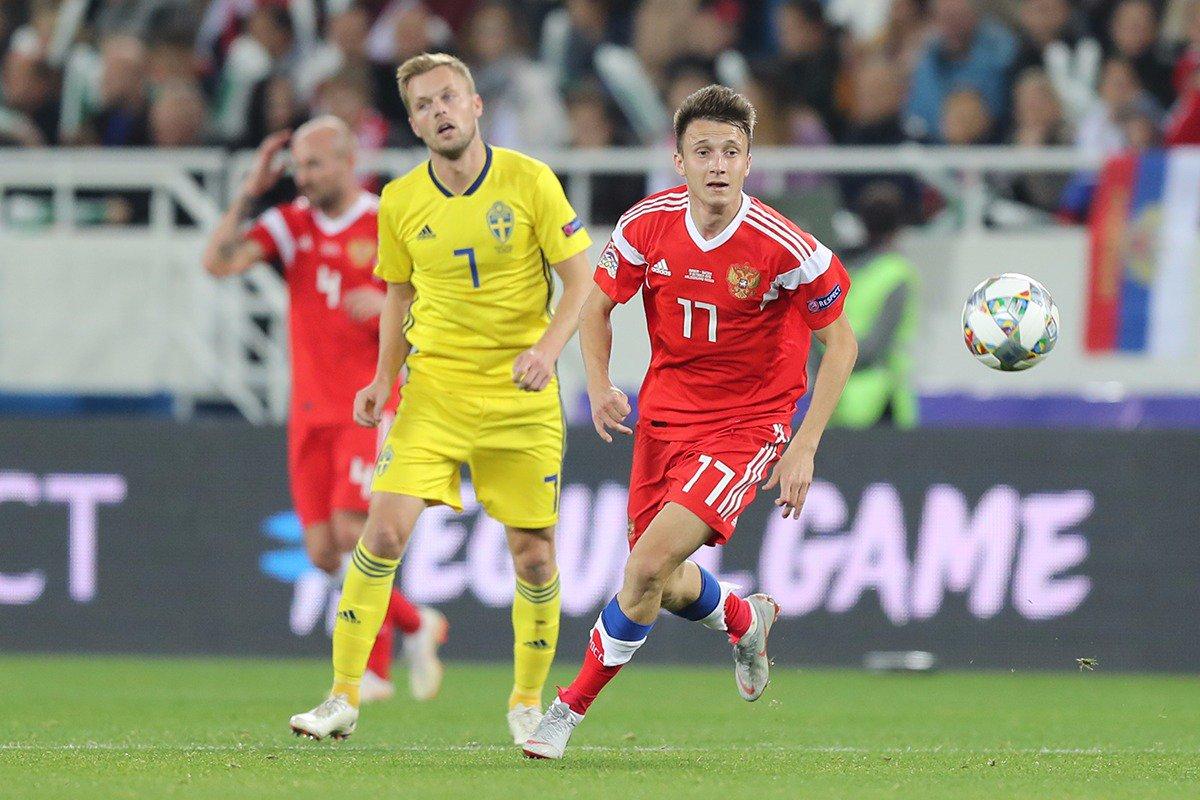 Россия сыграла вничью со Швецией
