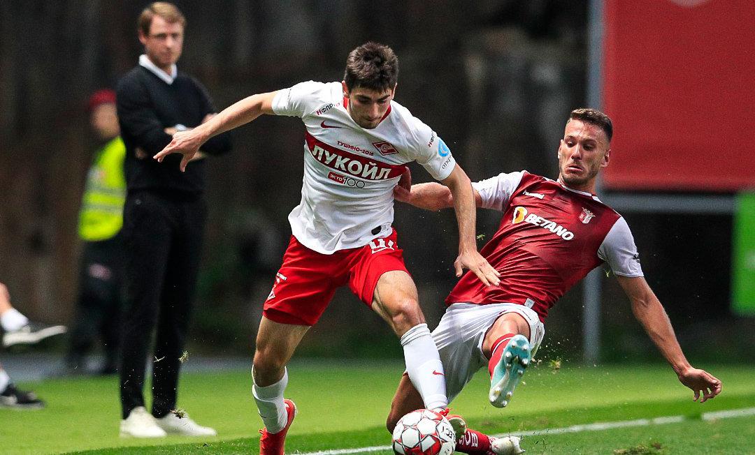 В первом матче плей-офф ЛЕ «Спартак» уступил «Браге»