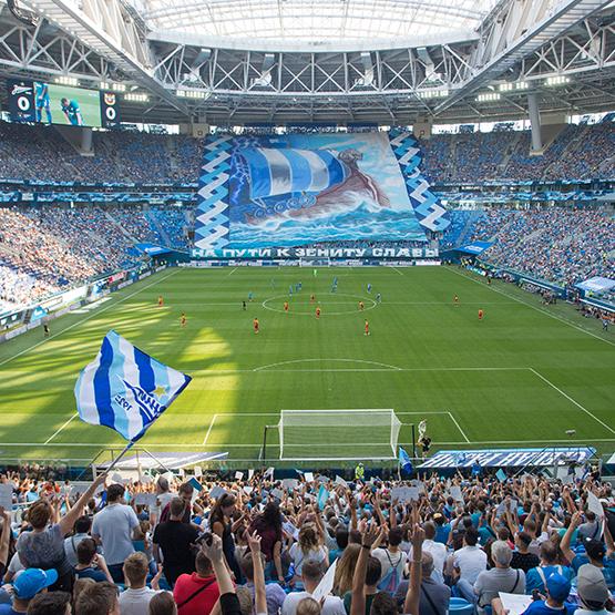 Стадионы РПЛ: «Газпром Арена»