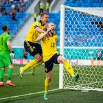 Сборная Швеции обыграла Словакию в матче Евро-2020 в Санкт-Петербурге