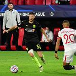 «Краснодар» в большинстве проиграл «Севилье» в Лиге чемпионов