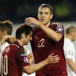 Сборная России разгромила Лихтенштейн в стартовом матче квалификации ЧЕ-2016