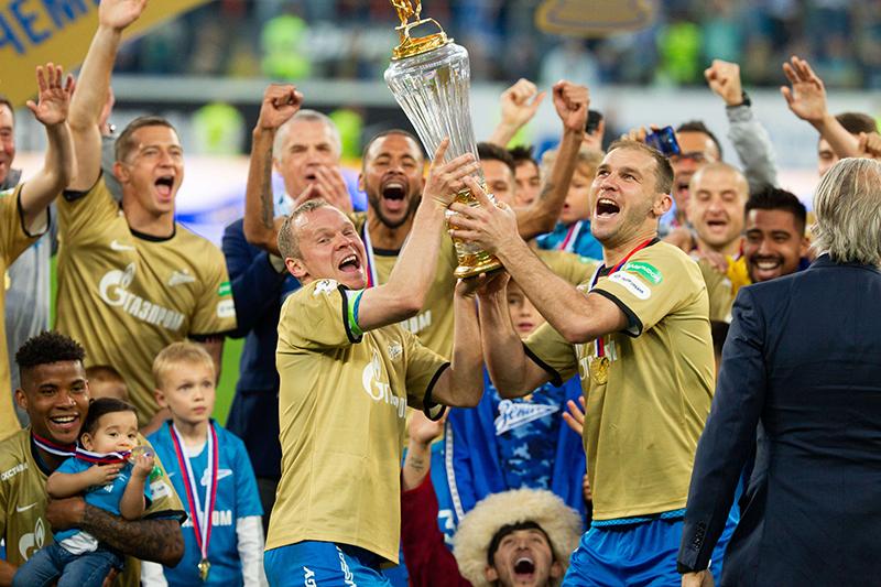 «Зенит» получил Кубок чемпионов России и золотые медали