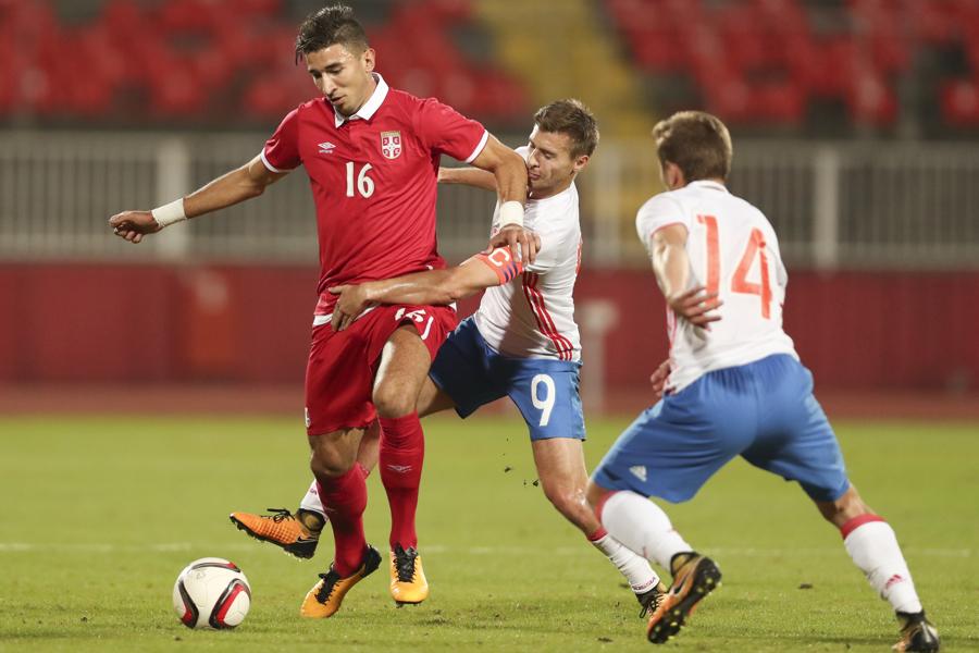 Молодежная сборной России уступила Сербии