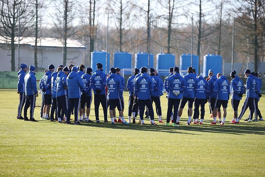 Cборная России продолжает подготовку к матчу с Аргентиной