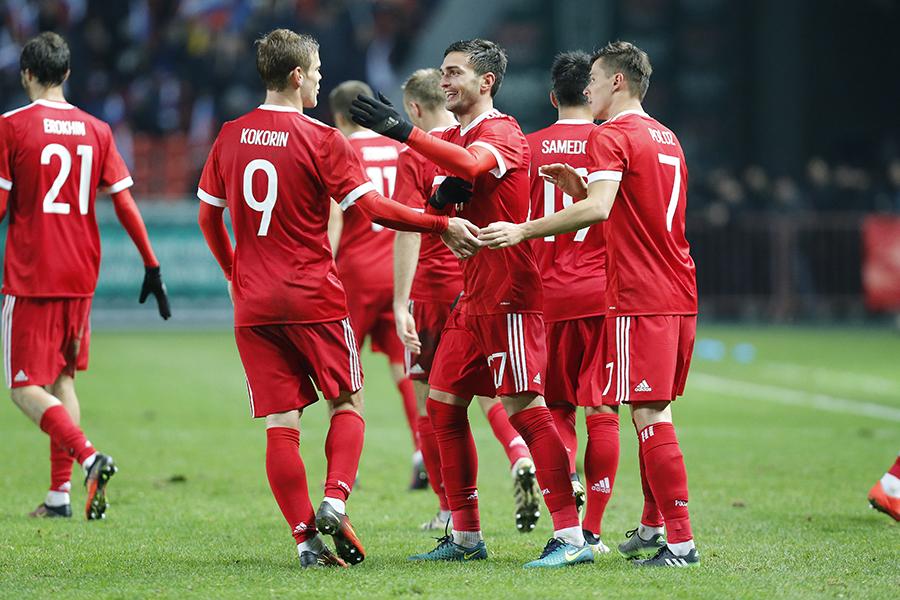 Гол Оздоева на последней минуте матча принес победу сборной России