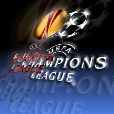 Клубы Премьер-Лиги проводят матчи Лиги чемпионов и Лиги Европы