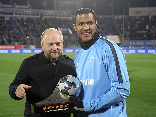 Саломон Рондон получил приз лучшему игроку РФПЛ в сентябре