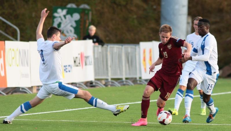Молодежная сборная России уступила Финляндии
