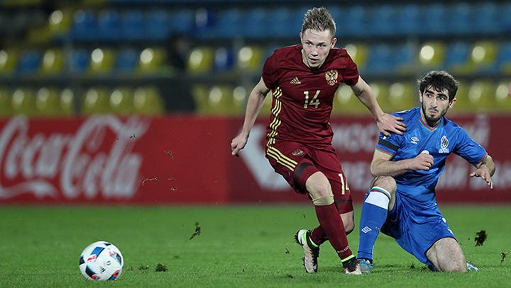 Молодежная сборная России сыграла вничью