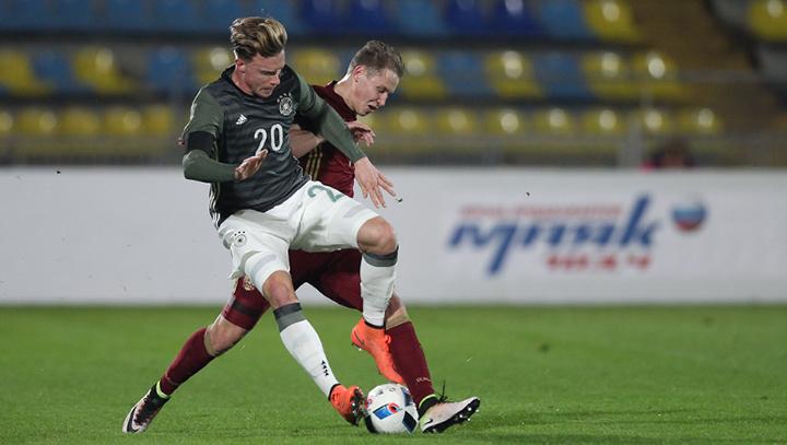 Молодежная сборная России проиграла Германии