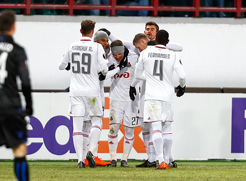 «Локомотив» вышел в 1/8 финала Лиги Европы