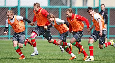 «Локомотив» готовится к матчу в Санкт-Петербурге